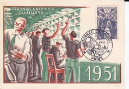 Journée Nationale Du Timbre 1951 Paris - Collections