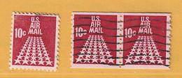 Timbre Etats-Unis Poste Aérienne N° PA 69 - PA 69A - PA 69A - 3a. 1961-… Usati