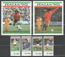Tanzania - Italia '90 - 4 V. + 2 Bf                     (g8010) - 1990 – Italia
