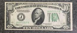 США 10 ДОЛЛАРОВ 1934 A 10J  (КАНЗАС-СИТИ) № J 40492818 A 'aUNC' (см.фото) - Federal Reserve (1928-...)