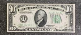 США 10 ДОЛЛАРОВ 1934 A 8H (СЕНТ-ЛУЙС) № H 35542260 A 'UNC!!!' (см.фото) - Federal Reserve (1928-...)