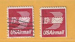 Timbre Etats-Unis Poste Aérienne N° PA 80 - PA 80b - 3a. 1961-… Usati