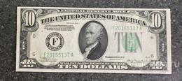 США 10 ДОЛЛАРОВ 1934 A 6F (АТЛАНТА) № F 20165137 A 'UNC!!!' (см.фото) - Federal Reserve (1928-...)