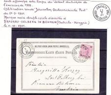 Autriche - Levant Autrichien - Carte Postale De 1901 - Oblit Jerusalem - Exp Vers Braunau Oelberg - - Eastern Austria