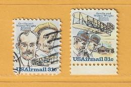 Timbre Etats-Unis Poste Aérienne N° PA 85 - PA 86 - 3a. 1961-… Usati