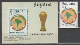 Guyana 1988 - Italia '90 - 1 V. + Bf                      (g8014) - 1990 – Italia