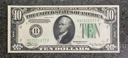 США 10 ДОЛЛАРОВ 1934 A 2B (НЬЮ-ИОРК) № B 93321077 B 'aUNC' (см.фото) - Federal Reserve (1928-...)