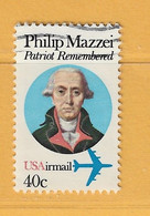 Timbre Etats-Unis Poste Aérienne N° PA 92 - 3a. 1961-… Usati
