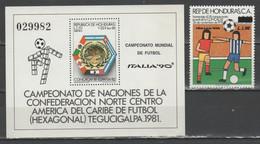 Honduras - Italia '90 - 1 V. + Bf                      (g8015) - 1990 – Italia