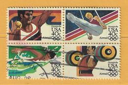 Timbre Etats-Unis Poste Aérienne N° PA 95 - PA 96 - PA 97 - PA 98 - 3a. 1961-… Usati