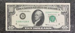 США 10 ДОЛЛАРОВ 1969 4D (КЛИВЛЕНД) № D 25837108 A 'UNC!!!' (см.фото) - Federal Reserve (1928-...)