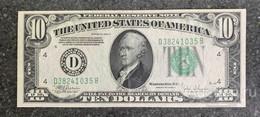 США 10 ДОЛЛАРОВ 1934 C 4D (КЛИВЛЕНД) № D 38241035 B 'aUNC' (см.фото) - Federal Reserve (1928-...)
