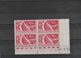Coin Daté Yvert 326 ** Sans Charnière Exposition Paris 1937 Date 14/8/36 - 1930-1939