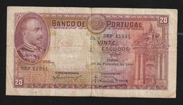Billet Portugal 20 Vinte  Escudos  1940  RRR - Portugal