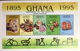 Ghana 1995 Pasteur Centenary Birds Animals Sheetlet MNH - Ghana (1957-...)