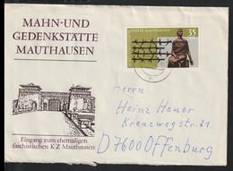 DDR Cover Franked W/Mahn- Und Gedenkstätte Mauthausen Posted Hertha 1978  (DD31-36) - Briefe U. Dokumente