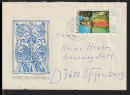 DDR Cover Franked W/Indische Miniaturen Posted Hertha 1974  (DD31-36) - Briefe U. Dokumente
