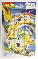 Ghana 1996 Olympic Games Prevois Medal Winners Football Sheetlet MNH - Ghana (1957-...)