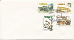 Tanzania Fdc 8-5-1985 Complete Set Of 4 Animals - Tanzania (1964-...)