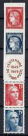 """FRANCE 1949: La Bande """"Centenaire Du Timbre"""" Y&T 833A, Neufs* - Unused Stamps"""
