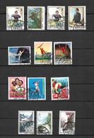 Collection Chine 1972 1973 Oblitérés Avec Gomme - Oblitérés