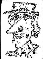 Tableau Dessin Unique Charles De Gaulle Gaullisme  Outsider Art Brut Peculiar Art Singulier Art Tribal Vue D'artiste - Dessins