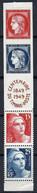 """FRANCE 1949: La Bande """"Centenaire Du Timbre"""" Y&T 833A , 2 TP Neufs**, 2 TP, Neufs* - Unused Stamps"""