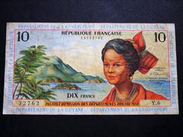 Billet De 10 F De La Martinique Guadeloupe Guyane (sans Date) - Französich-Guyana
