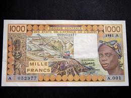 Beau Billet De 1000 F De La Banque Centrale De L' Afrique De L' Ouest De 1981 SPL - Other - Africa