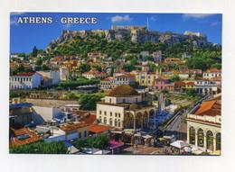 CP Utilisée. Athènes Athens Grèce Greece Griechenland Hellas. Le Parthénon Surplombant La Ville - Grecia