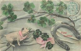 ANIMAUX COCHON FANTAISIE - Porte Bonheur . Fer A Cheval - Maiali