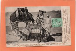 CARTE POSTALE ANCIENNE. EGYPTE. CHAMEAUX DE PARADE . 1905. - Non Classificati