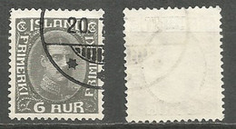 Iceland 1920 , Used Stamp Michel # 87 - Used Stamps