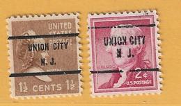 Timbre Etats-Unis Préoblitérés Union City N.J. - Preobliterati