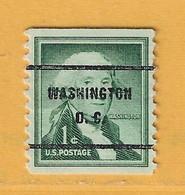 Timbre Etats-Unis Préoblitérés Washington - Preobliterati