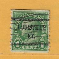 Timbre Etats-Unis Préoblitérés Louisville - Preobliterati