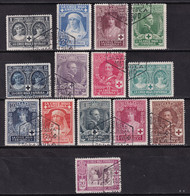 1926 Alfonso XIII CRUZ ROJA. SERIE COMPLETA USADA. PRECIOSA - Used Stamps