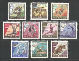 Russia USSR 1960 Year, Mint Stamps MNH (**) , Mi.# 2369-78 Sport - Nuevos