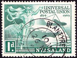 NYASALAND 1949 KGVI 3d Greenish-Blue UPU SG164 FU - Nyasaland (1907-1953)