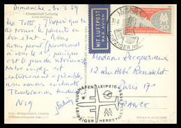 DDR - Leipzig Messe Luftpost - Leipziger Messe 1959 - Flughafen - Par Avion - Messestadt LEIPZIG - Vers Paris 17e - Covers & Documents