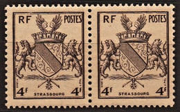 1945 Y&T N° 735 Paire N** - Unused Stamps