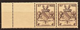 1945 Y&T N° 735 Paire Bord De Feuille N** - Unused Stamps