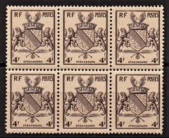 1945 Y&T N° 735 Bloc De 6 N** - Unused Stamps