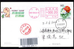 """China COVID-19 Postage Meter:Keep In Mind Protection """"Five Perseverance""""--Still Need Cover Mouth When Cough/sneeze - Disease"""