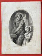 Anno 1856  - Doodsprentje Décés  GRAVURE - RONGE HUBAR Liège Luik - 9.5 Cm X 7 Cm - Devotion Images