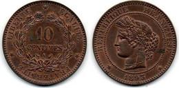 10 Centimes 1893 A Cérès SUP - D. 10 Centimes