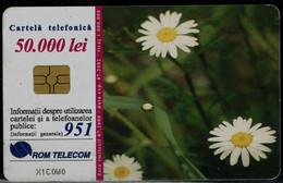 ROMANIA 1998 PHONECARD FLOWERS USED VF!! - Fiori