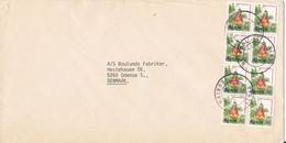 Kenya Cover Sent To Denmark 22-7-1985 Topic Stamps Flowers - Kenya (1963-...)