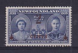 Newfoundland: 1939   Surcharge   SG273   2c On 5c    MH - 1908-1947