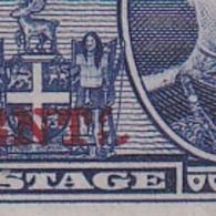 Newfoundland: 1939   Surcharge   SG274a   4c On 5c  ['CENTL' Variety]  MH - 1908-1947